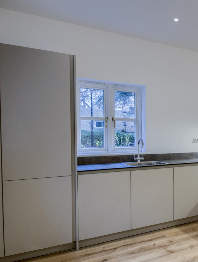 Elm Bank Project Modern kitchen apartment grey interior