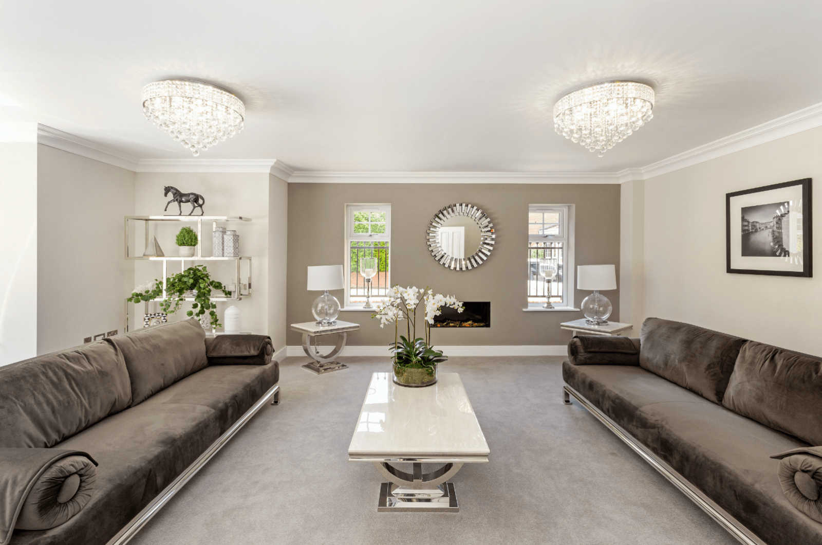 Alderbrook Road project modern grey living room interior
