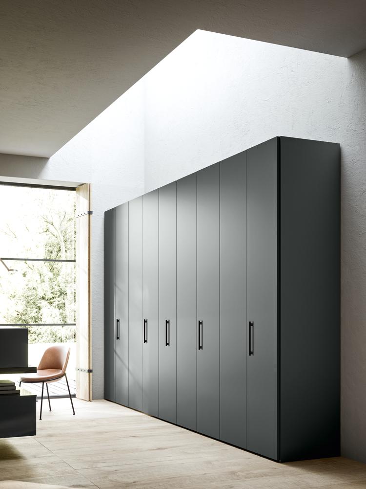 Jesse tall dark grey cabinets