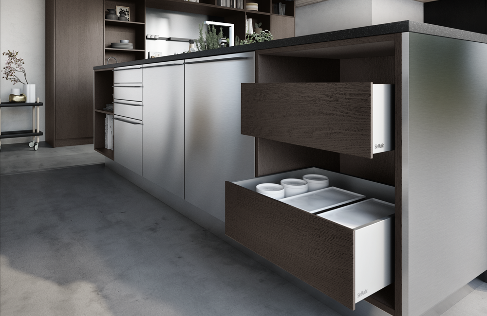 SieMatic URBAN Kitchen island in Stainless Steel