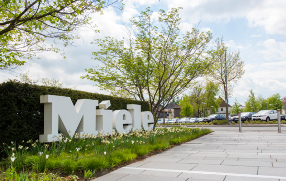Large outdoor Miele sign